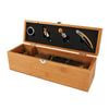 Bamboo Wood 1 Bottle Box with Accessories