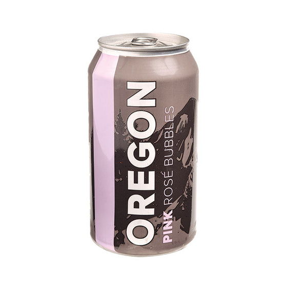 Canned Oregon Pink Rosé Bubbles Individual Can
