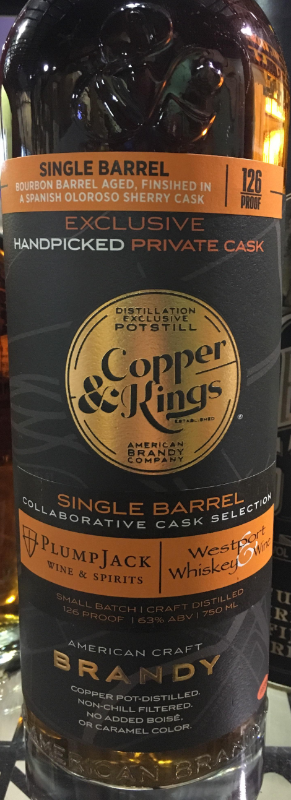 Copper & Kings Private Cask PlumpJack W&S x Westport W&W