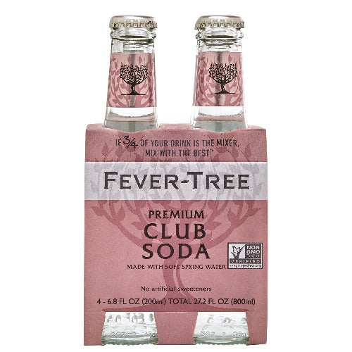 Fever Tree Club Soda 4 Pk