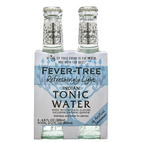 Fever Tree Naturally Light Tonic Water 4 pk