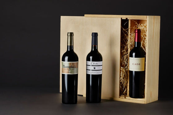 3 Bottle Wood Gift Box