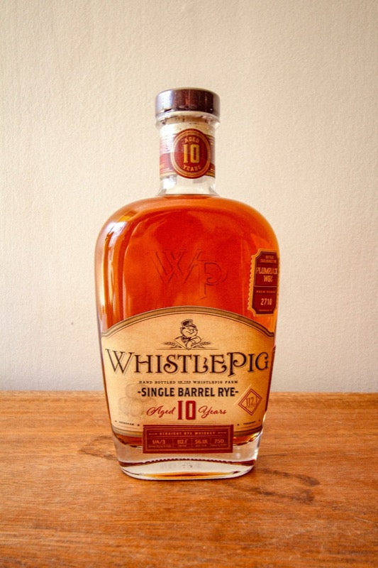 Whistle Pig PlumpJack Single Barrel Cask Strength Rye 2020