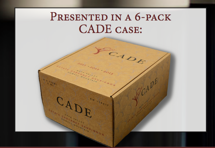 Cade Estate Howell Mountain Cabernet Sauvignon 6-Pack Vertical