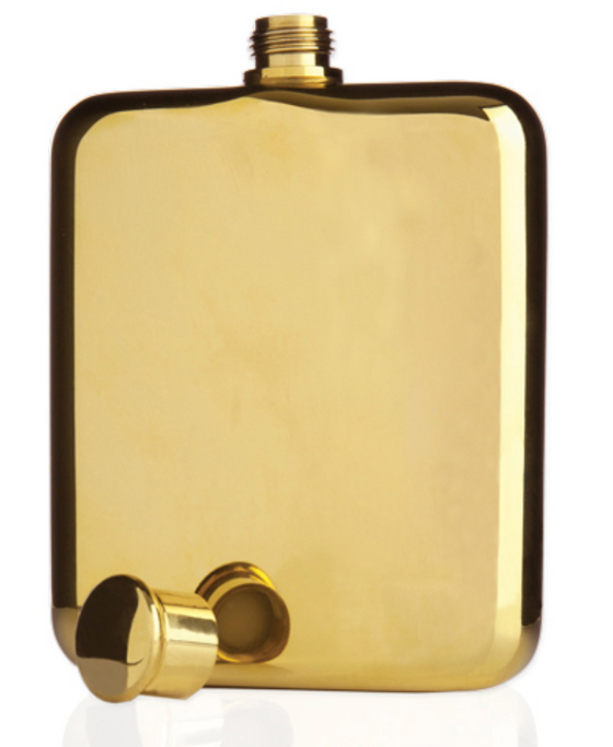 Viski Belmont™ Gold Plated Flask