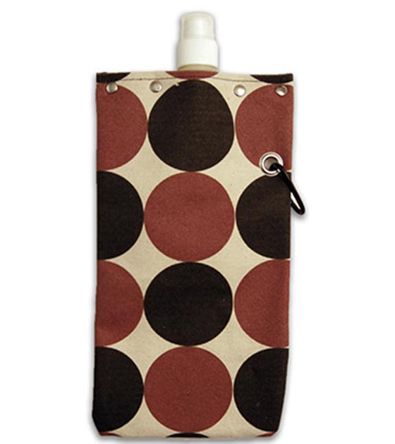 Tote+Able Canvas Dots Wine Flask