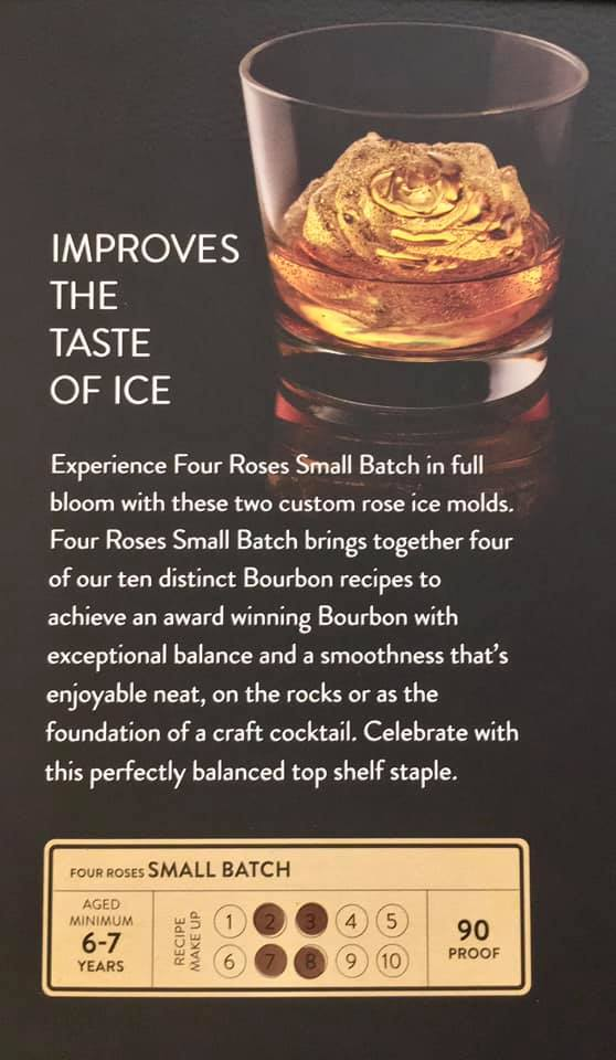 Four Roses Small Batch with Ice Molds