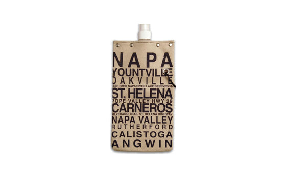 Tote+Able Canvas CA Wine Flask