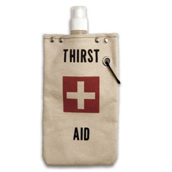 Tote+Able Canvas Thirst Aid Wine Flask