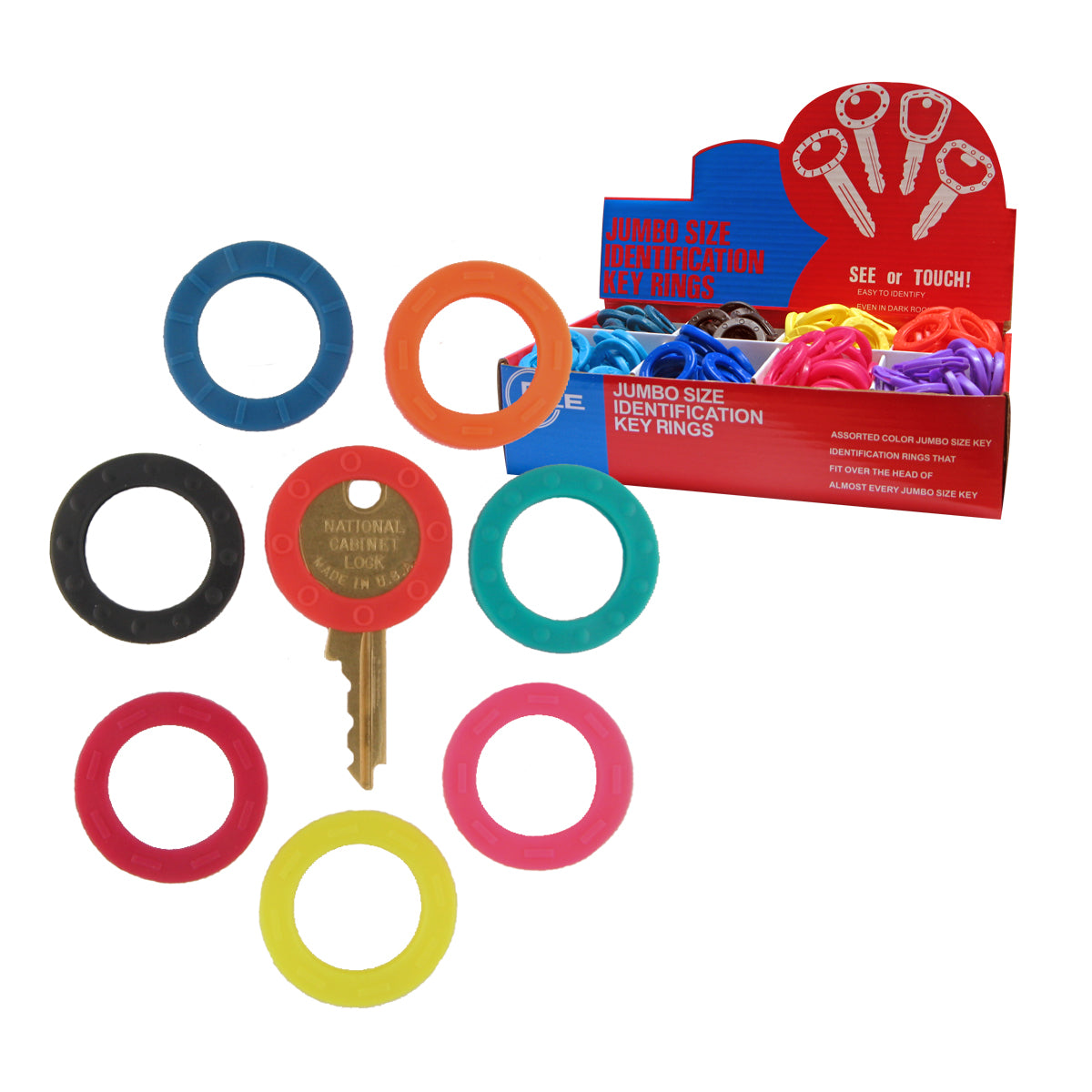 Large ID Key Rings (200 pc DISPLAY)