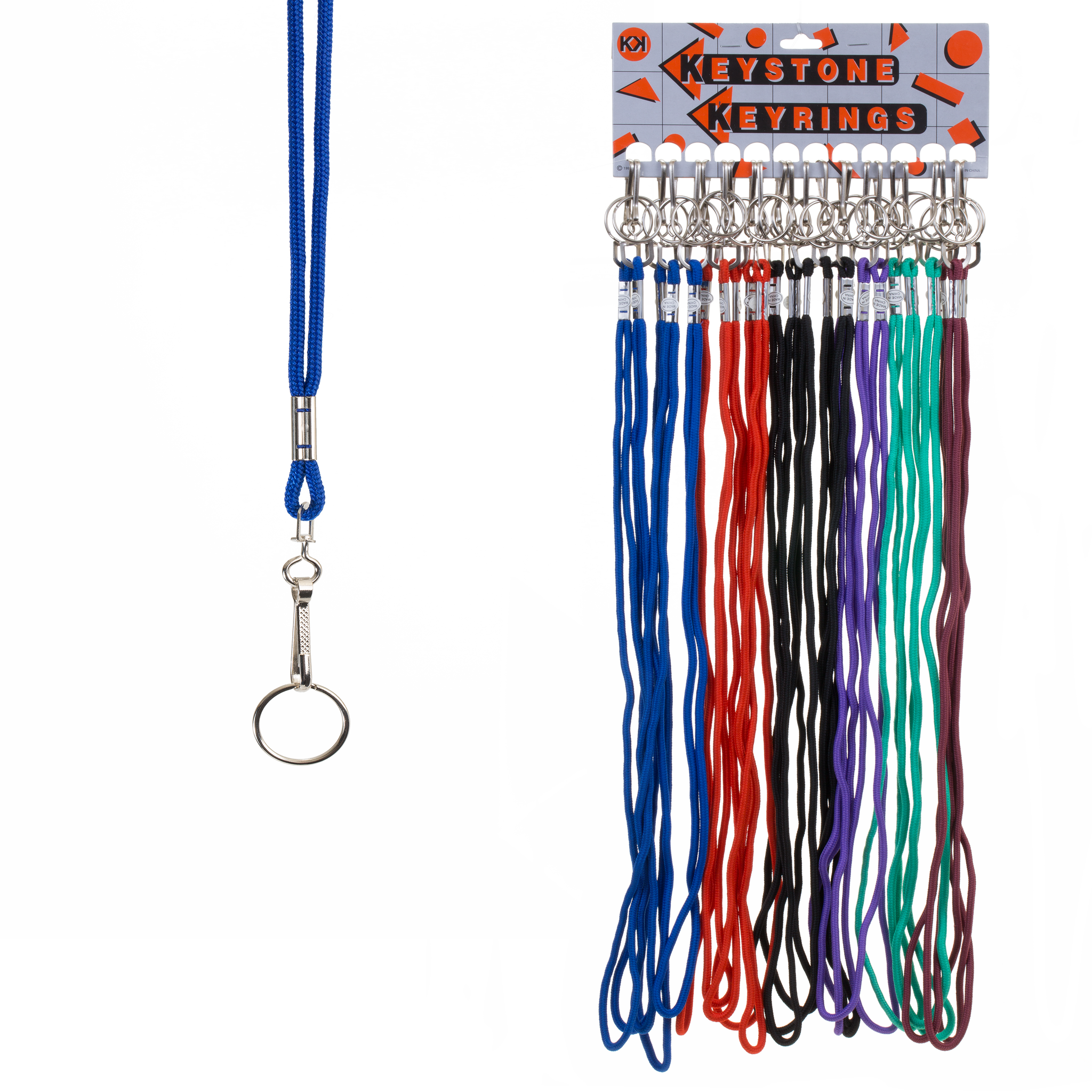 Nylon Cord Lanyard with Split Ring (24 pc DISPLAY)