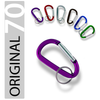 Anodized Carabiner Keychain - 70 mm (36 pc Display)