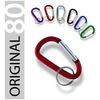 Anodized Carabiner Keychain - 80 mm (36 pc Display)