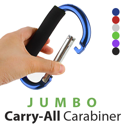 Jumbo Carabiner Carry-All - Anodized Finish (12 pc Display)