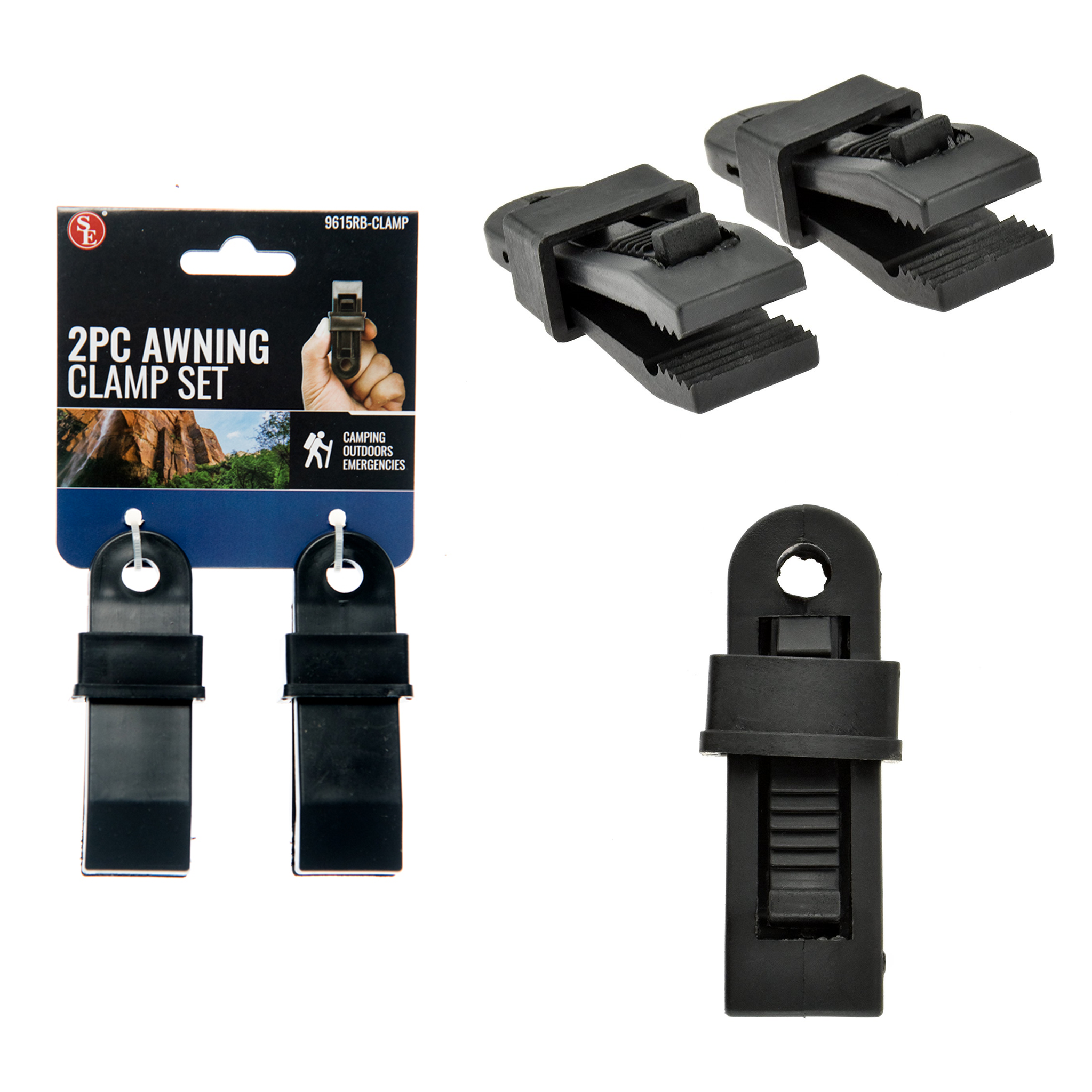 Awning Clamp - 2 Pack  (12 pc Clip Strip)