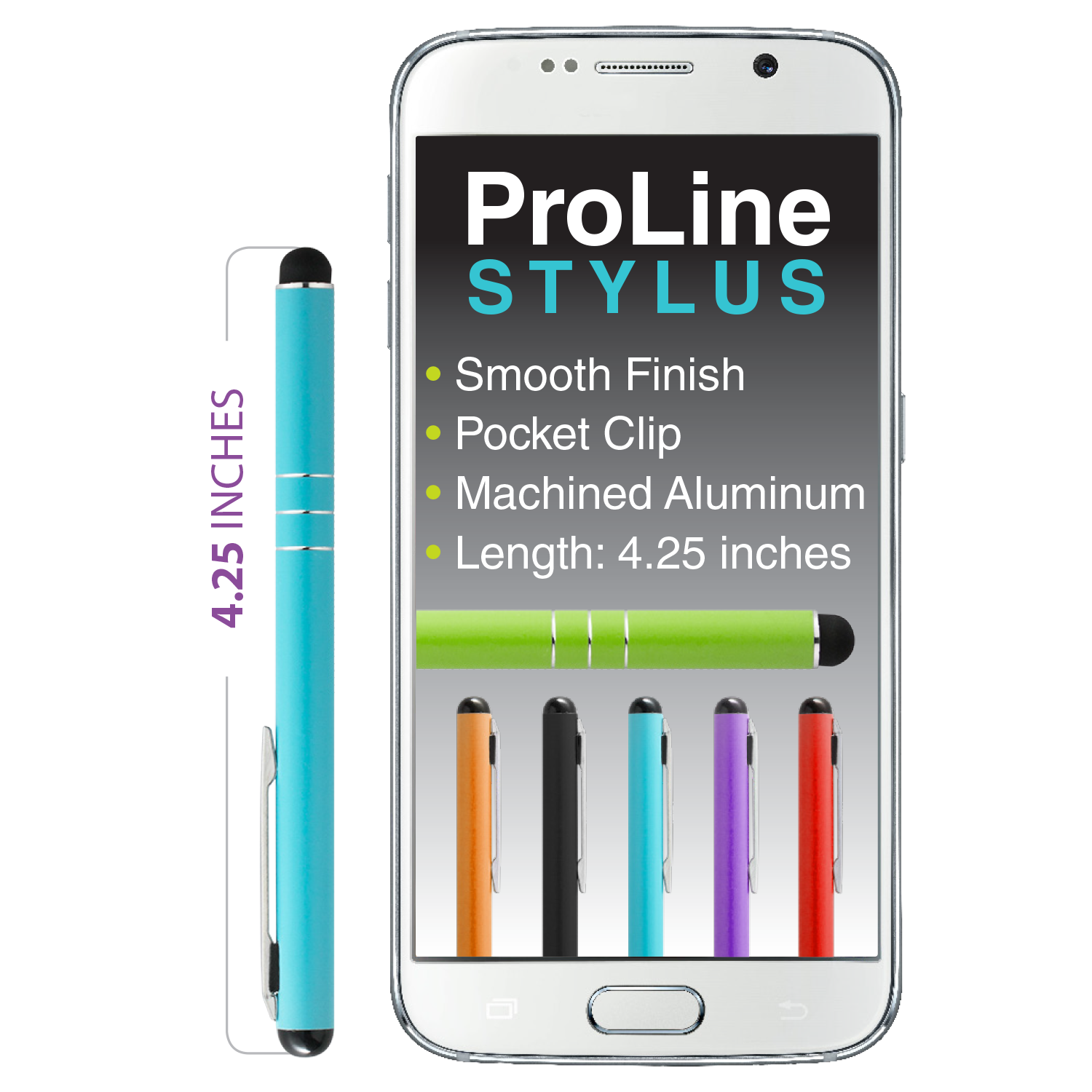 Stylus - ProLine - Aluminum (36 pc DISPLAY)