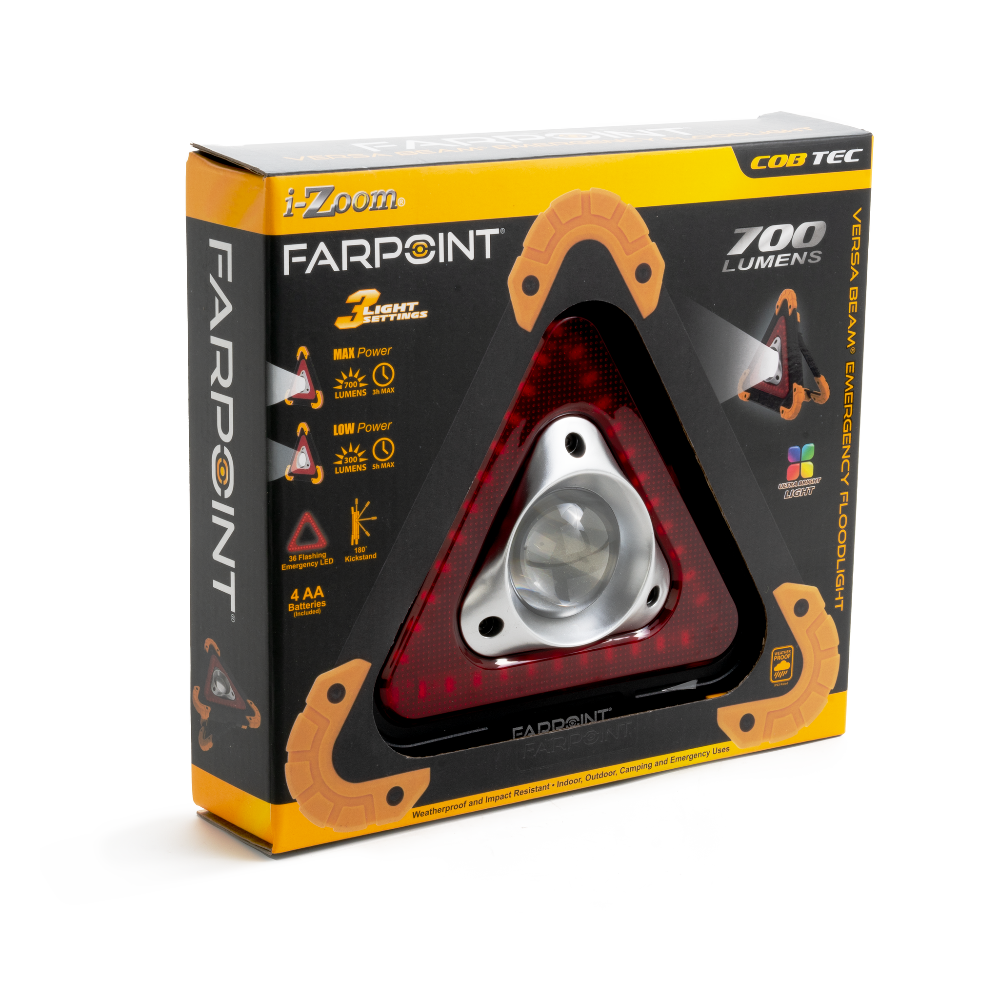 Farpoint® 700 Lumens Roadside Emergency Floodlight (6 pc DISPLAY)