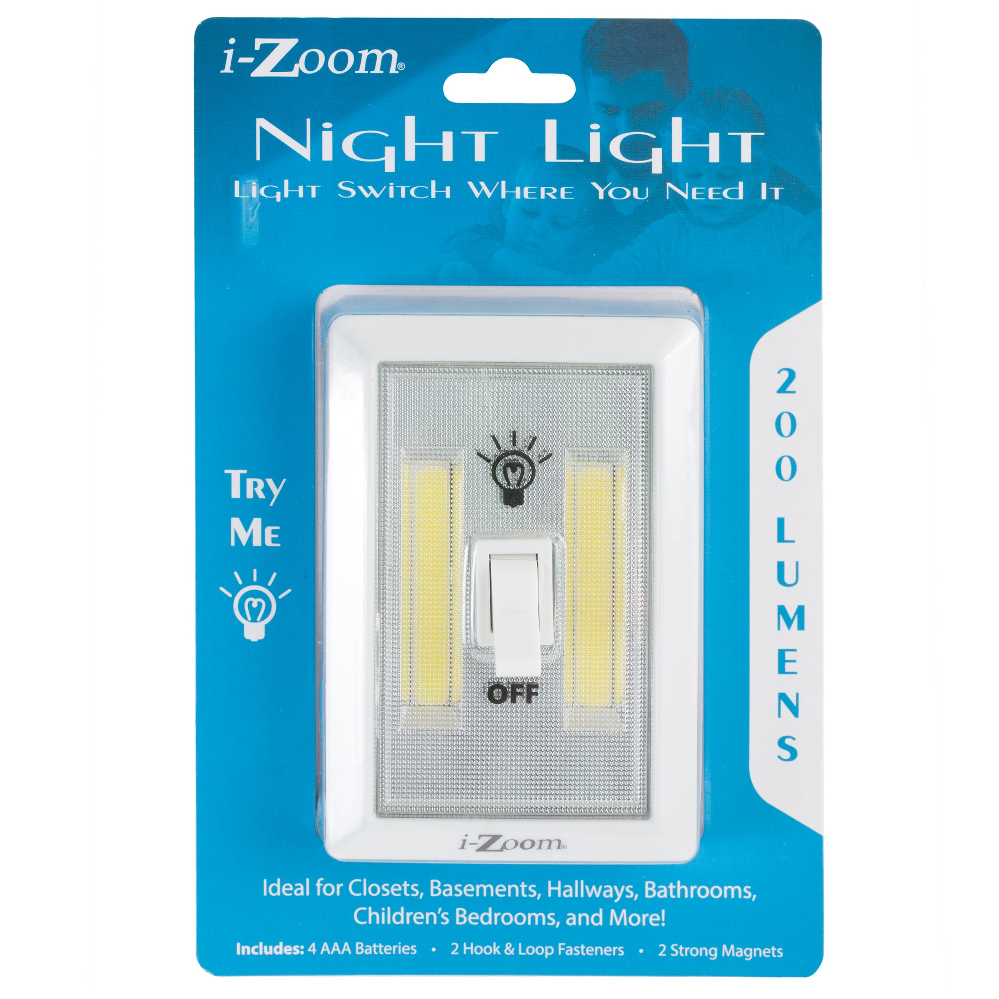 200 Lumens Night Light Switch (12 pc DISPLAY)