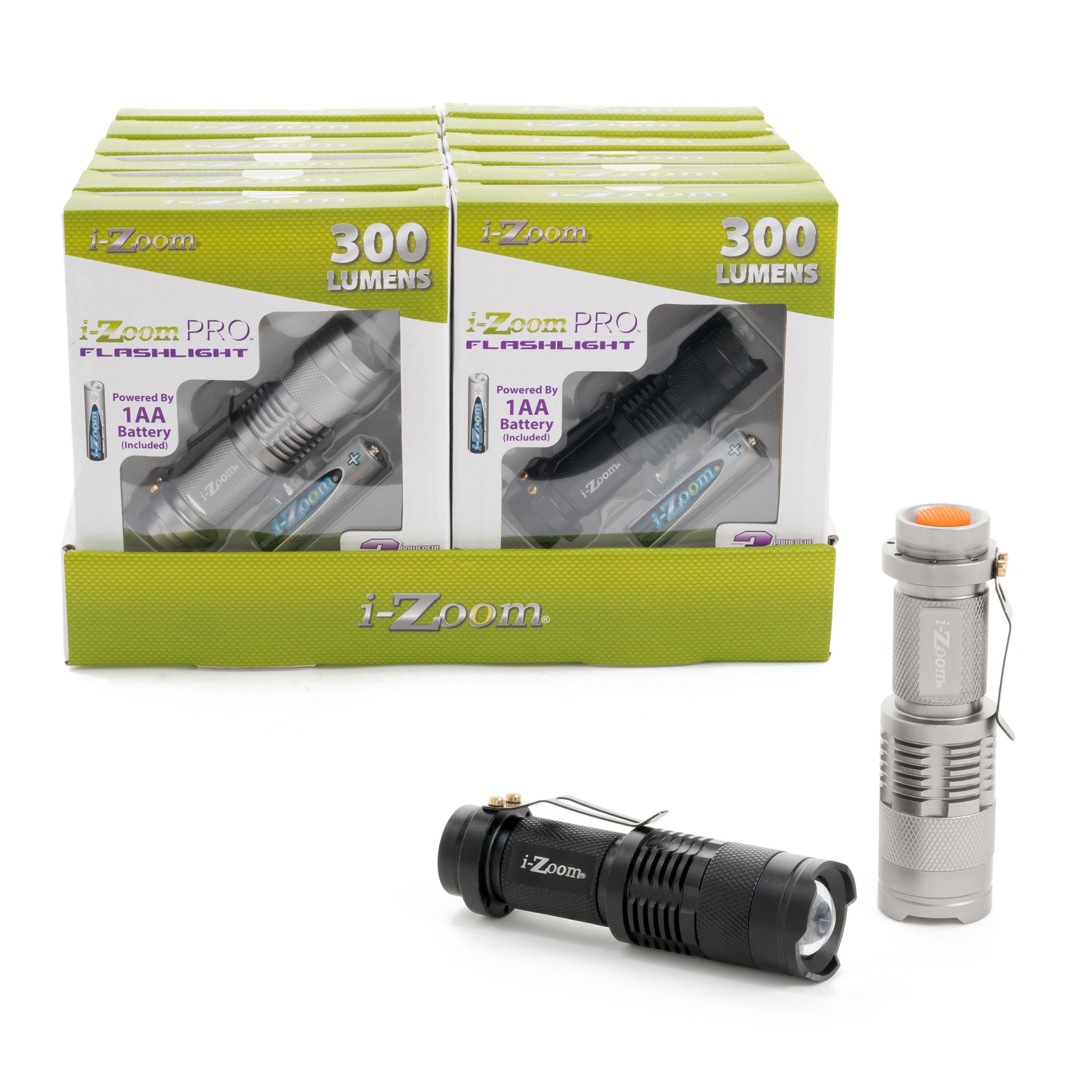 DISCONTINUED: 300 Lumens Compact Flashlight (12 pc DISPLAY)