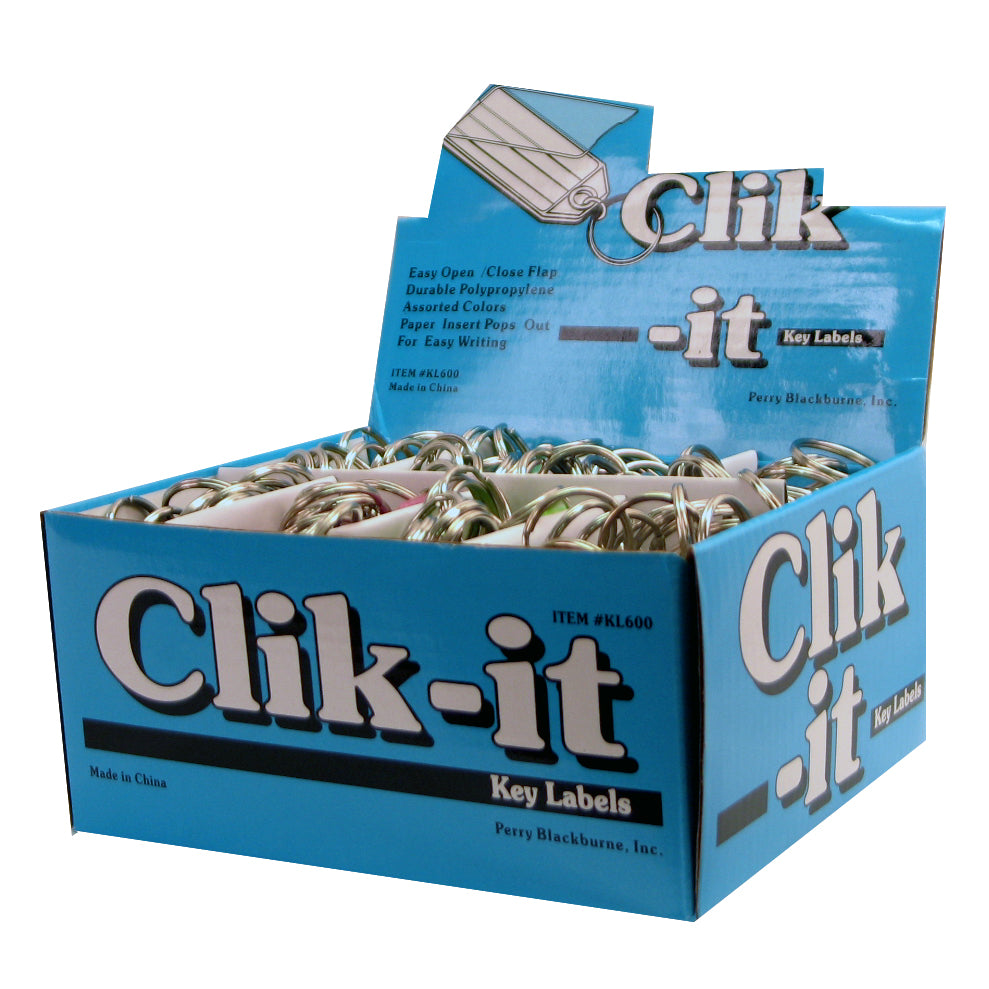 Click-it ID Key Labels (100 pc DISPLAY)
