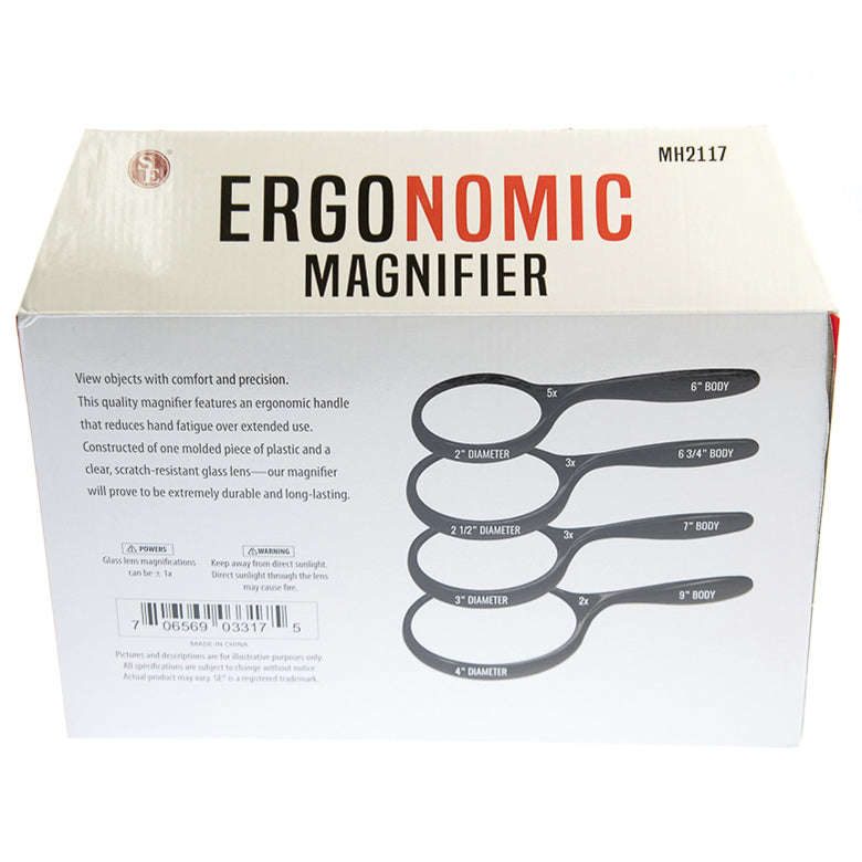 Ergonomic Handle Magnifier (12 pc DISPLAY)