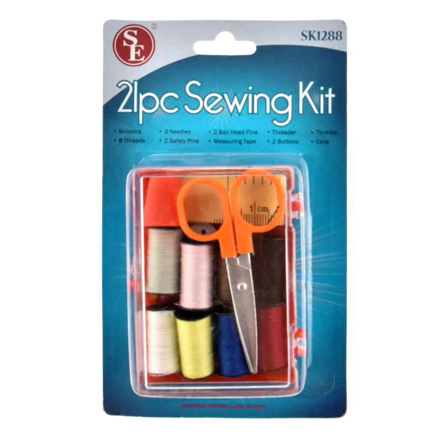 OUT OF STOCK - Travel Sewing Kit (12 pc Clip Strip)