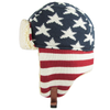 American Flag Trapper Winter Cap (6 pc Clip Strip)