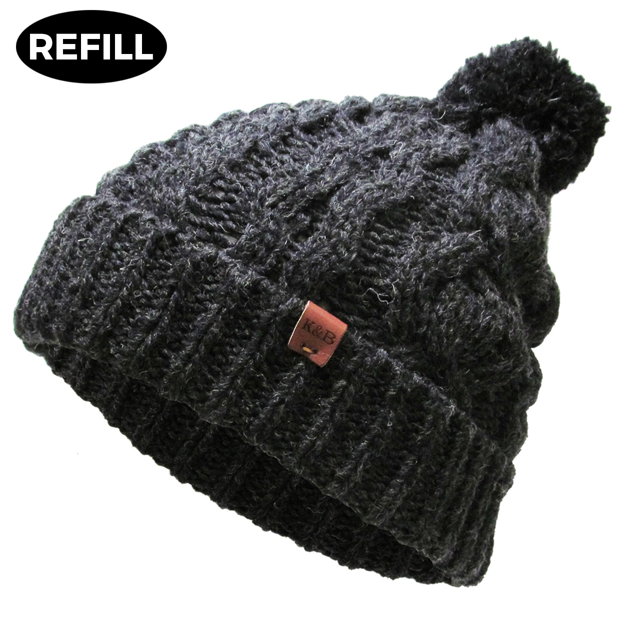 POMPOM - Wool Blend Winter Beanie (1 pc REFILL)