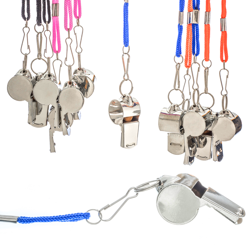 Lanyard with Metal Whistle (12 pc DISPLAY)