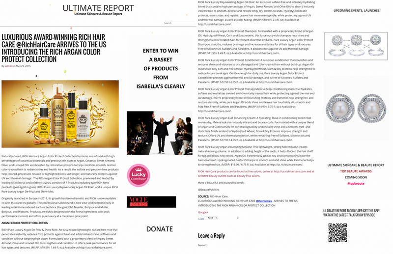 SHOUT-OUT FROM BEAUTE REPORT