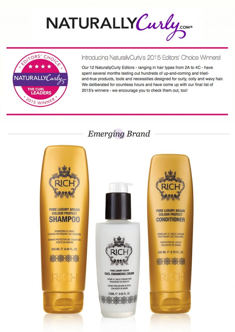ANOTHER AWARD FOR RICH HAIR CARE!