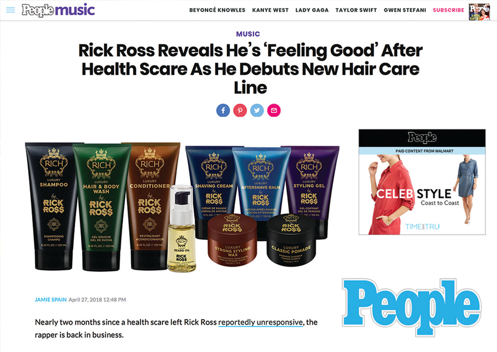 INTRODUCING RICH BY RICK ROSS LUXURY MEN'S LINE