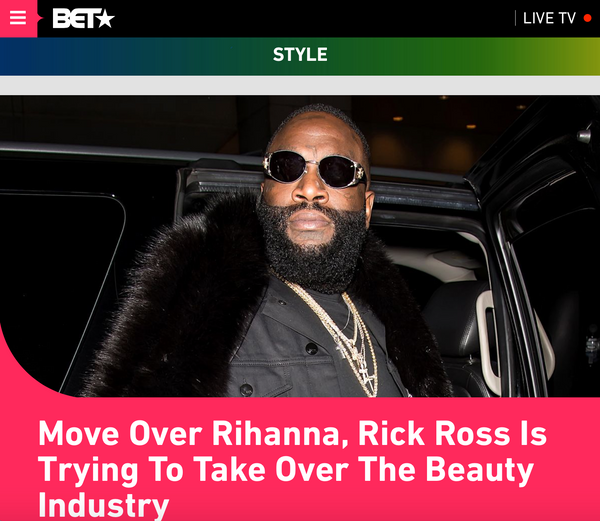 RICK ROSS BET NEWS