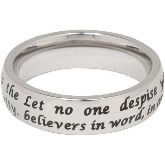 1 Timothy 4:12 Steel Ring-Christian Rings-Cornerstone Jewelry-684191819315-5-684191819315-5-SonGear