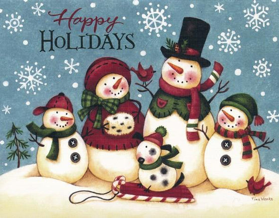 Happy Holidays, Snowmen, Christmas Cards, Box of 18