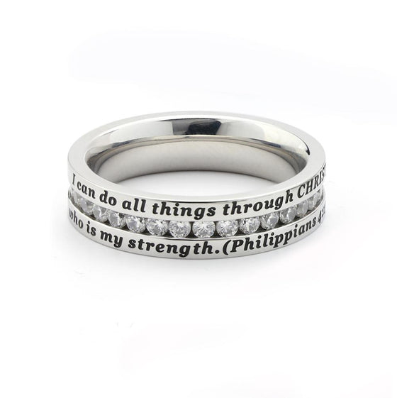 Philippians 4:13 - All Things - Elegance Ring