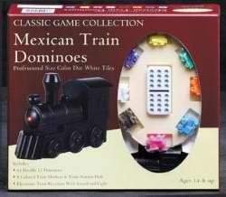 Game-Mexican Train Game/Dominoes In Tin