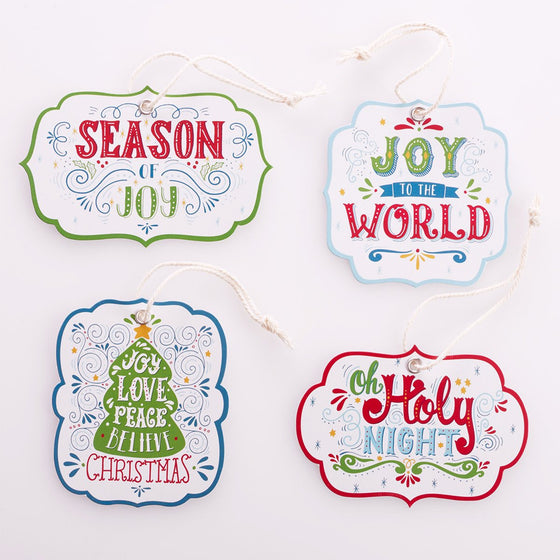 Gift Tags-Christmas (4 Designs/4 Of Each)