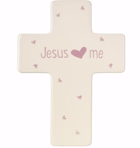 Cross-Jesus Loves Me-Girl (Table Or Wall) (7.5')