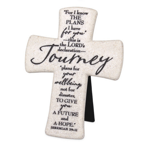 Cross-Desktop-Cast Stone-Scripture-Journey (#11347)