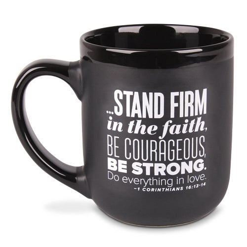 Ceramic Mug-Encourage Men-Stand Firm (#18245)