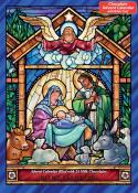 Chocolate Advent Calendar-Stained Glass Nativity (10 x 13.75)