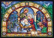 Medium Advent Calendar-Stained Glass Holy Night (8.25 x 11.75)