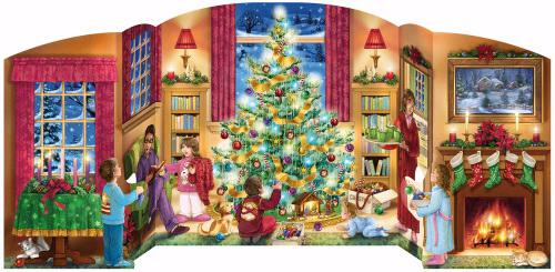 Free Standing Advent Calendar-Holiday Home (18 x 8.75)