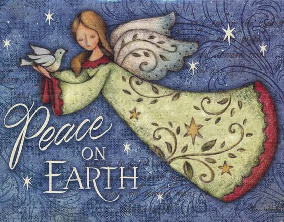 Peace on Earth, Angel, Christmas Cards, Box of 18