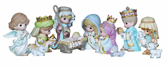 Precious Moments Nativity Set 11 Pieces
