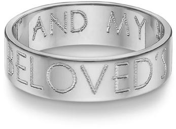'I am My Beloved's' Wedding Band, 14K White Gold