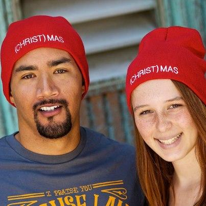 (CHRIST)MAS™ Red Beanie One Size/Unisex