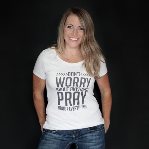 Don't Worry - Women's Fitted Tee