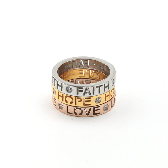 Faith, Hope, Love - Stack Ring